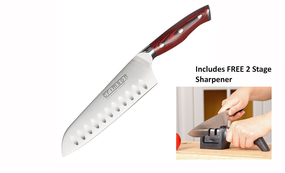 "7"" Santoku with Free Sharpener"