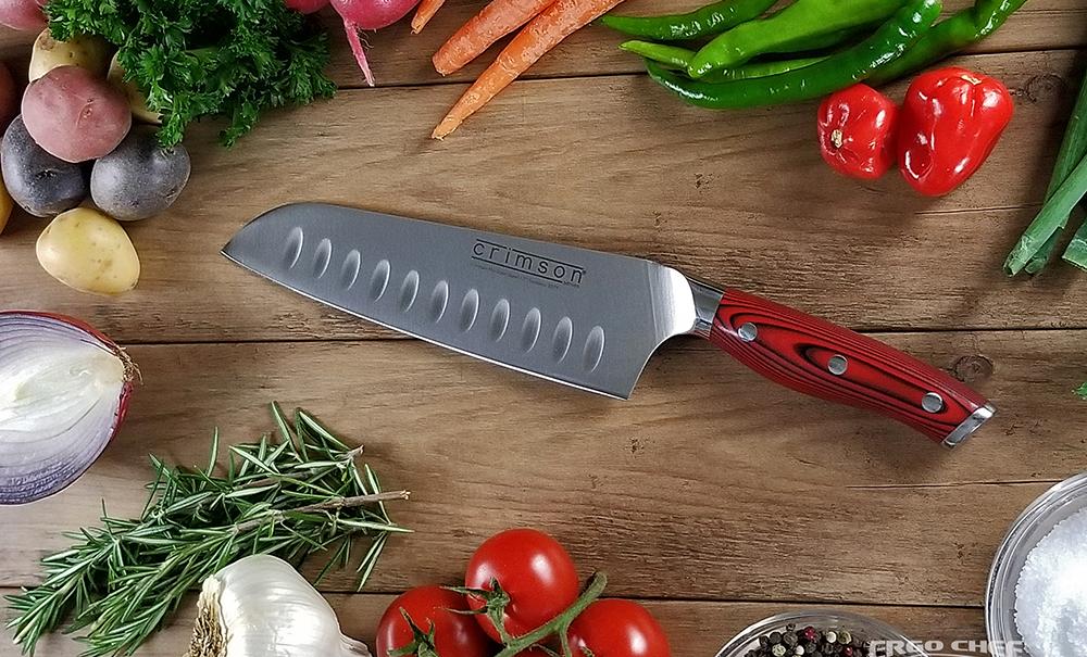 "Crimson G10 7"" Santoku Knife"