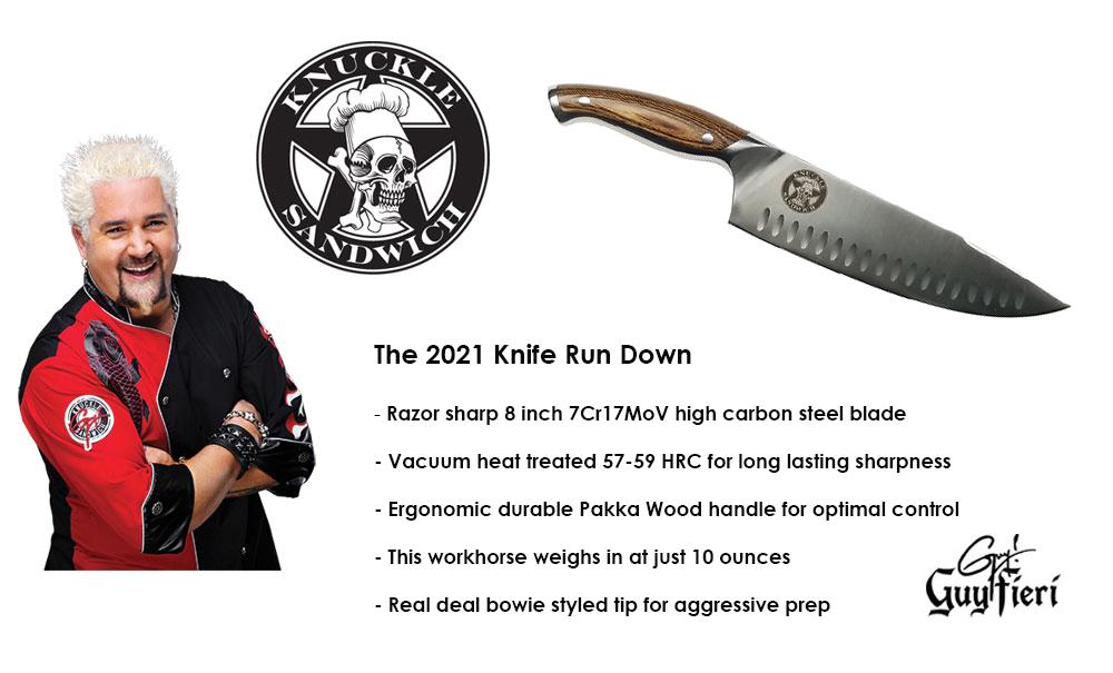 Guy Fieri Knuckle Sandwich 8 inch Chef knife